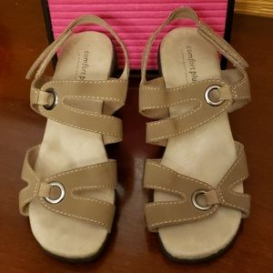 Comfort Plus 7 Wide Strappy Sandals by Predictions